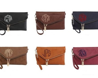 Monogrammable Envelop Clutch/Cross body Bag,Gift for mom, Birthday gift