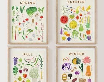 Collection of 4 Seasonal Prints