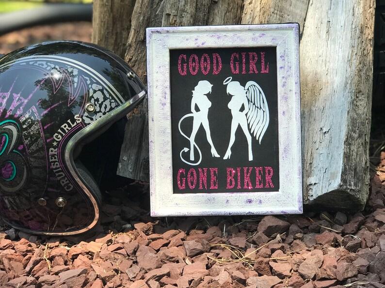 Good Girl Gone Biker Harley Davidson Motorcycle Biker Etsy