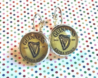 Guinness Beer cabochon earrings - 16mm
