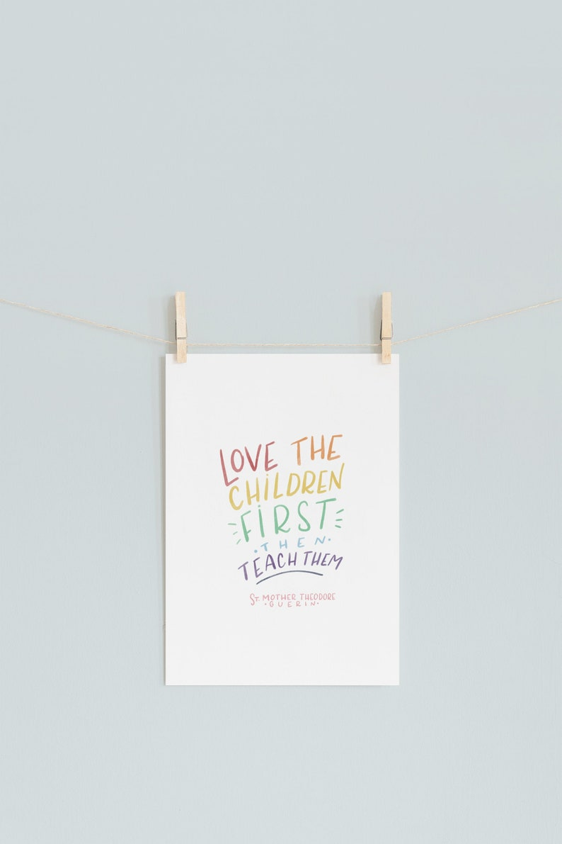 PRE-ORDER SPECIAL Love the Children First  Catholic Print  image 0