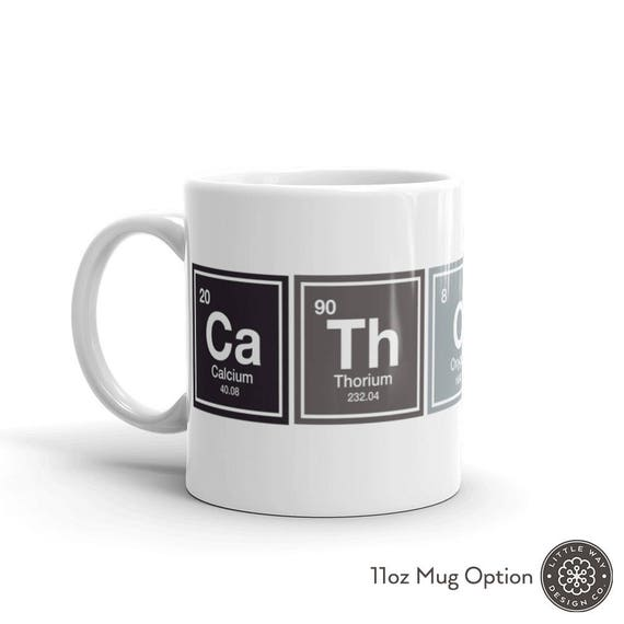 Catholic Mug Periodic Table Mug Catholic Gifts Christian Etsy