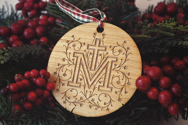 Marian Cross Christmas Tree Ornament  Limited Edition image 0