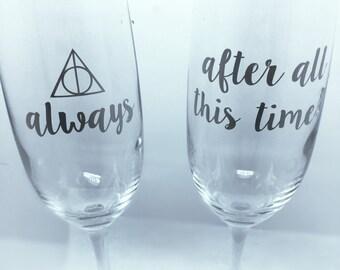 Harry Potter Champagne Flutes
