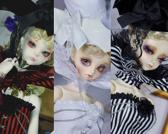 CODENOiR -  Silent black BJD clothes for sd 10 / 13 GIRL / SDGr / dd Mbust / 1/3 BJD Girl