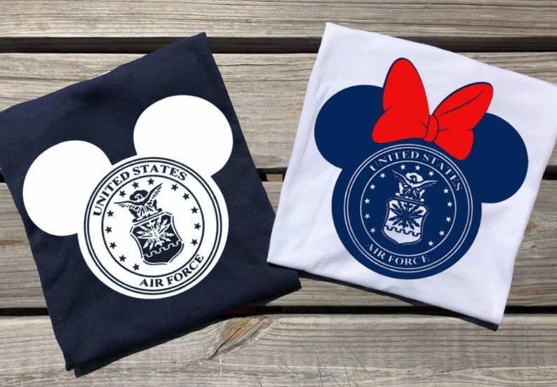 789ab1f1237c8f Military Disney Shirt Military Mickey shirt Air Force | Etsy