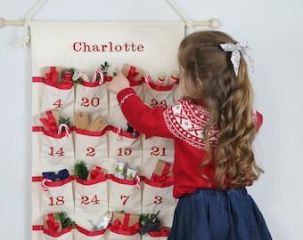 Advent Calendar - Fabric Advent - Christmas Countdown Calendar - Kids Advent Calendar - Christmas Calendar - Fabric Advent Calendar