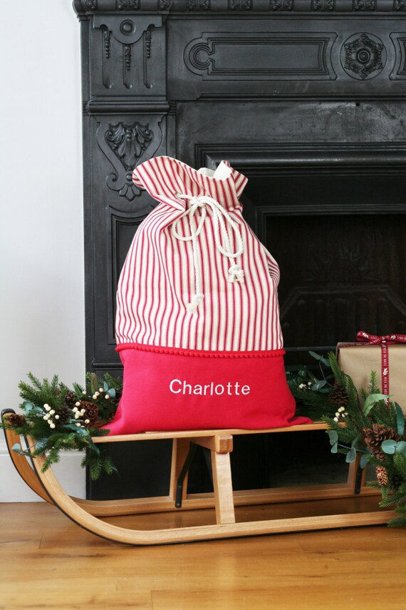 Santa Sack personalisiertes Geschenk Spielzeug Tasche | Etsy