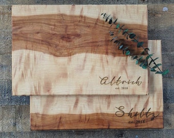 custom engraved cutting board / personalized cutting board / couple cutting board wedding gift / custom personalized wedding gift host gift