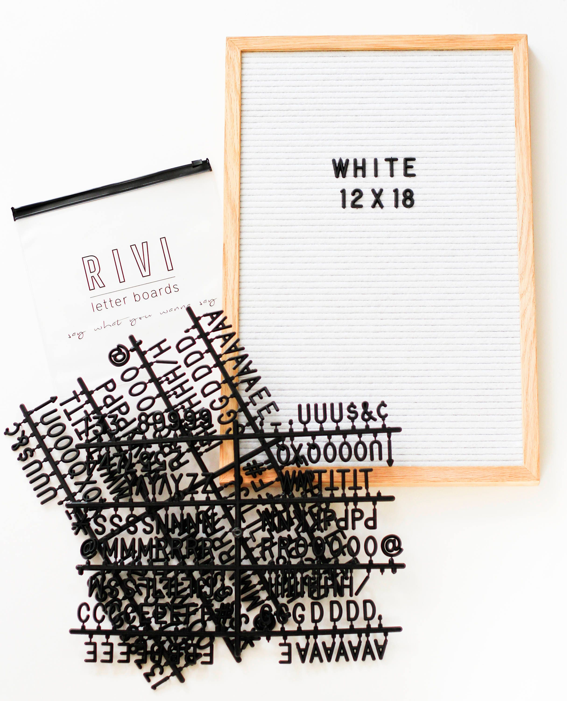 12 x 18 Zoll geschlitzten Filz Buchstaben Board mit Filz weiß | Etsy