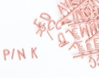 Set of DUSTY PINK 1-inch 290 Character Helvetica Sprue Letter Set for Felt Letter Boards