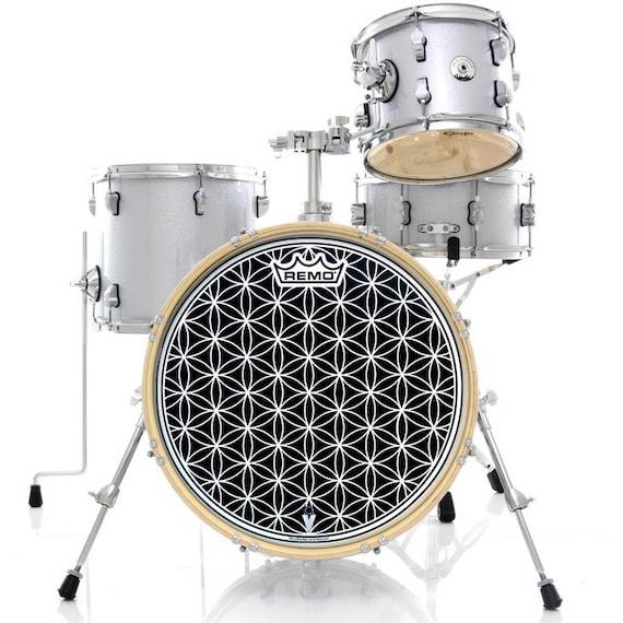 Flower of Life 20 Remo Drum HEAD Sacred Geometry  841398730