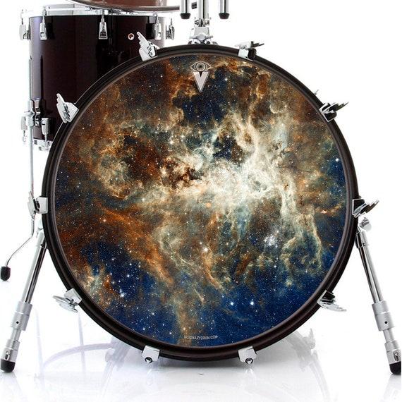 nebula 2 skin for bass snare and tom drums design drummer art etsy. Black Bedroom Furniture Sets. Home Design Ideas