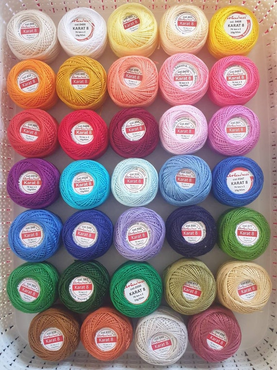 Ariadna Cotton Embroidery Crochet size 8 thread 100/% Cotton ball  yarn 10g 65m