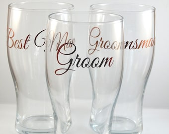 Personalised Horizontal Name/Text Pint Glass