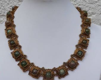 massive Collier in earth tones - for strong women