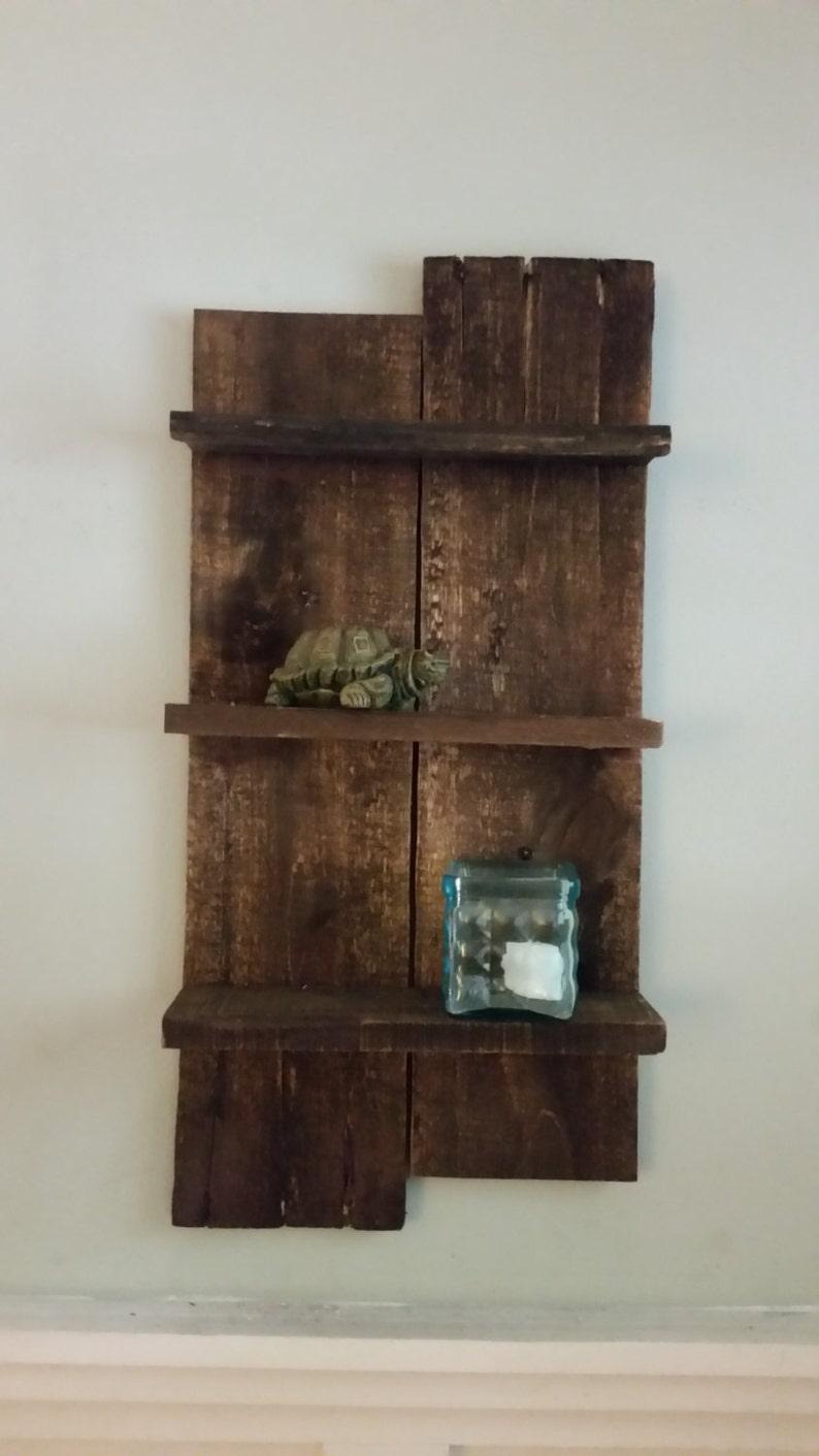 Houten Plank Voor Aan De Muur.Muur Shelf Rustieke Teruggewonnen Houten Plank Wall Etsy
