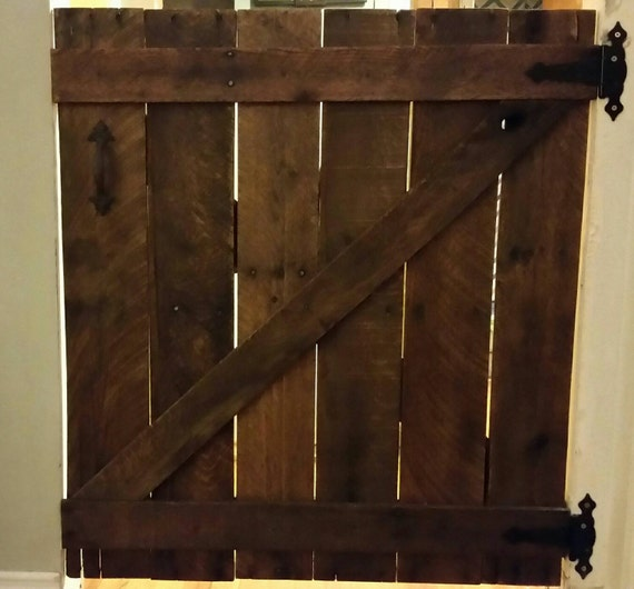 Barn Door Baby Gate Rustic Baby Gate Wooden Baby Gate Dog Etsy