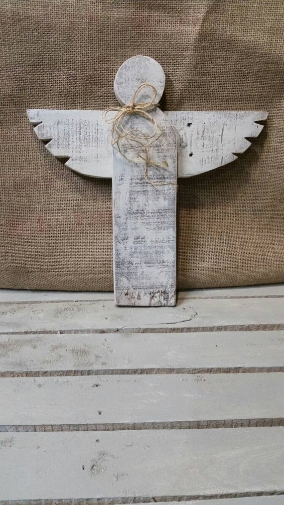 Lg Rustic Wooden Angel Reclaimed Wood Angel Pallet Wood