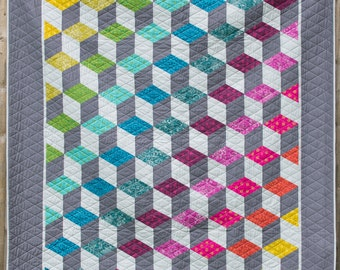 The Cubes Quilt Pattern