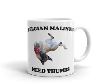 Mug,Belgian Malinois, love, pup, puppy, dog, unique, little Heather