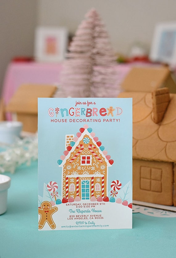Gingerbread House Decorating Party 5x7 Digital Printable PDF ...