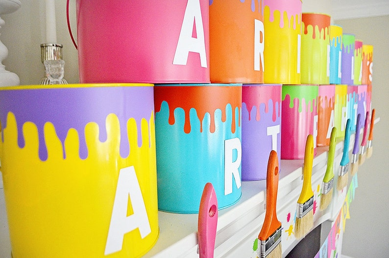 Paint Can Drips SVG Cutting File Instant Download Art Party image 0