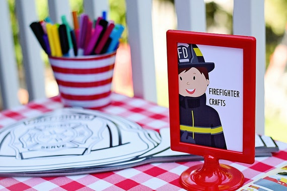 Firefighter Crafts 4x6 Printable PDF Instant | Etsy