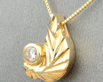 Yellow  Gold Necklace , Gold Necklace,Diamond Necklace,