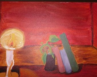 Candlelight (acrylic on canvas)