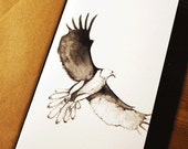 Hand-drawn eagle greeting...