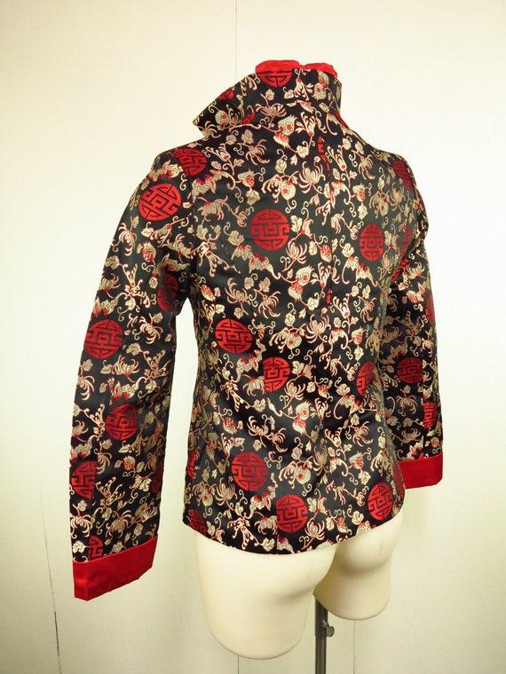 Asian Style Jacket  / Cheongsam Dress Jacket / Qi… - image 7