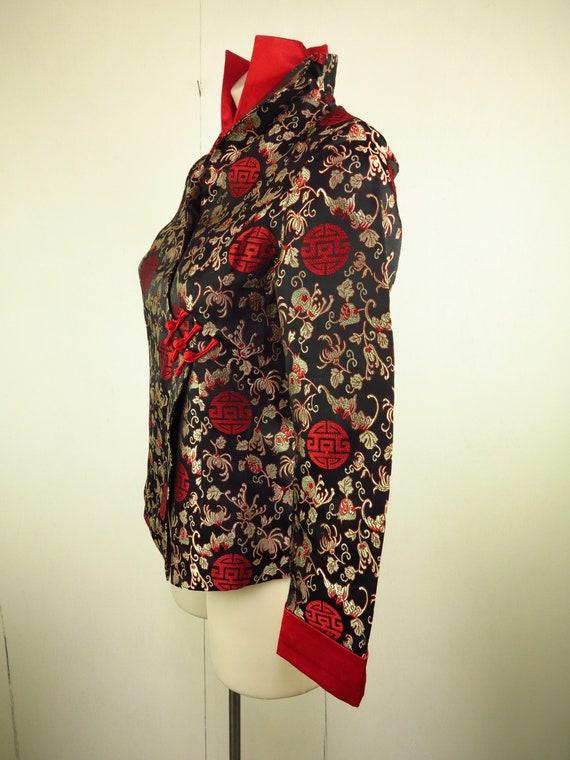 Asian Style Jacket  / Cheongsam Dress Jacket / Qi… - image 5