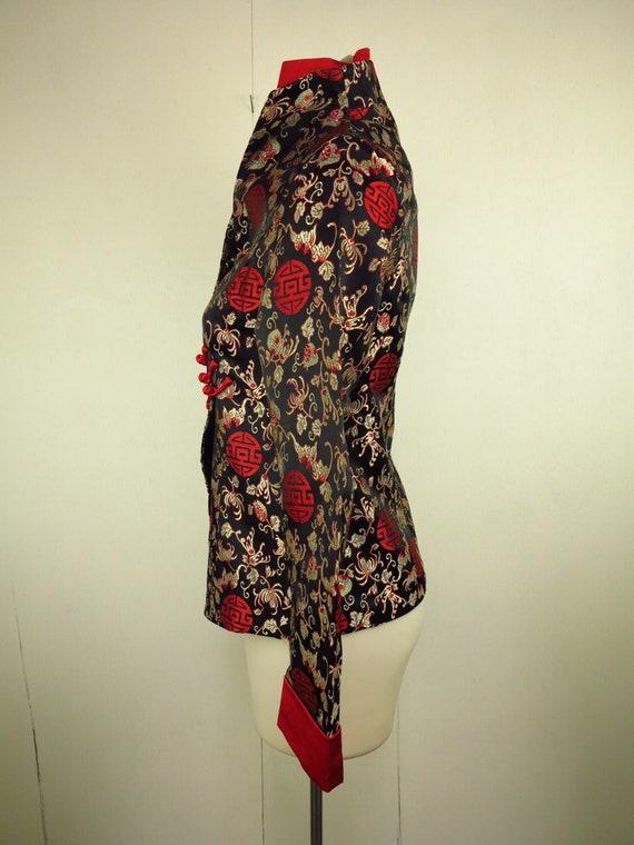 Asian Style Jacket  / Cheongsam Dress Jacket / Qi… - image 6