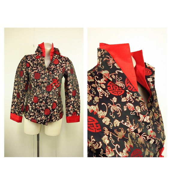 Asian Style Jacket  / Cheongsam Dress Jacket / Qi… - image 1