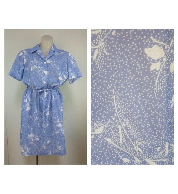 Adorable Baby Blue Vintage Dress / Retro Peasant /