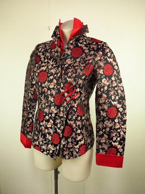 Asian Style Jacket  / Cheongsam Dress Jacket / Qi… - image 4