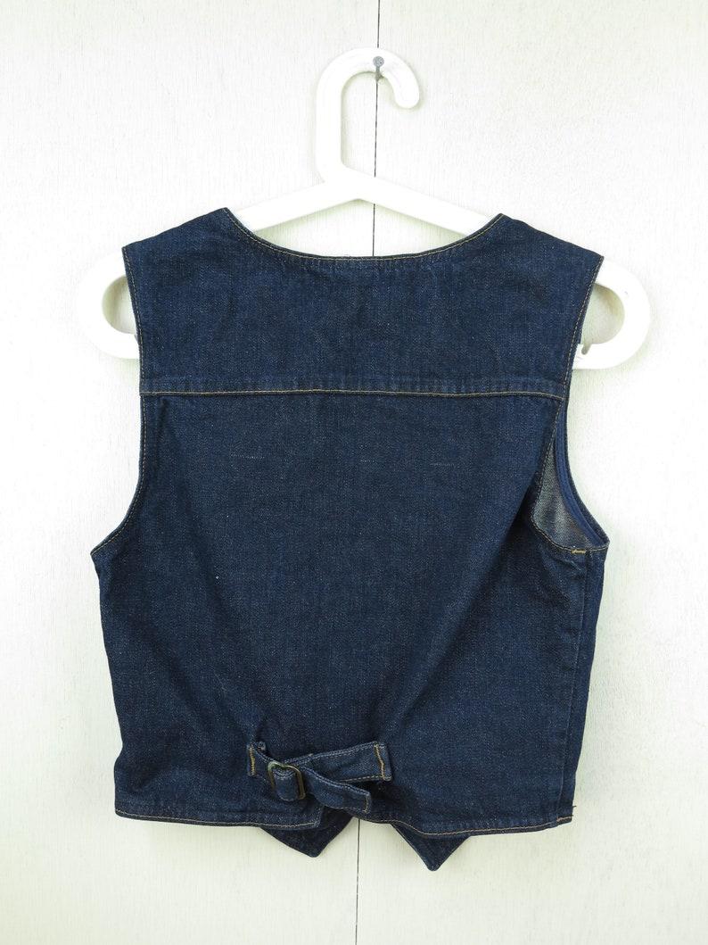 Denim Vest Blue Jean Waistcoat Crop Top Vest Boho Vest Short Festival Vest Bohemian Crop Boho Top Gift For Girlfriend Gift For Her
