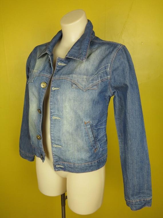e84b03122aaa Vintage Denim Jacket   Distressed Vintage Blue Jean Jacket