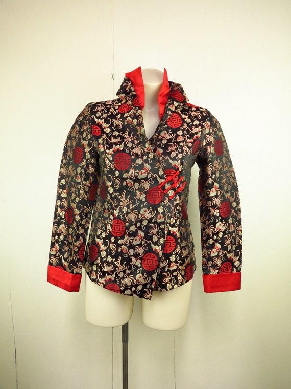 Asian Style Jacket  / Cheongsam Dress Jacket / Qi… - image 2