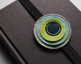 Felt elastic bookmark - teacher gift - book club gift - unique bookmark - planner accessories - handmade - book lover - birthday gift