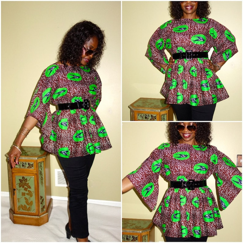 4ef56e4db2c63 African Clothing African Top Tops for Women Peplum Top African