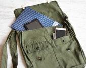 NEVER USED Vintage Military Backpack Army Bag Backpack Crossbody Bag School Bag Unisex Bag Fishing Bag Soldier Bag military surplus