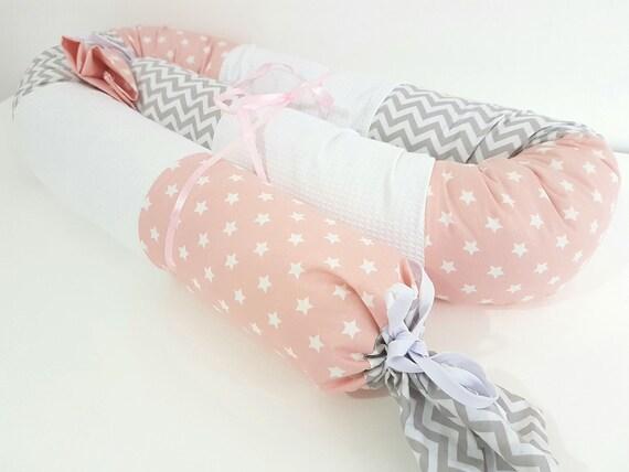 Baby schlange kissen sterne pique rosa grau und weiß etsy