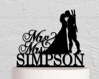 Wedding Cake Topper,DeadPool Cake Topper,DeadPool Groom Topper,Custom Cake Topper,Mr And Mrs Cake Topper,Groom And Bride Topper