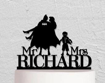 Wedding Cake Topper,Batman And Robin Cake Topper,Custom Cake Topper,Mr And Mrs Cake Topper,Hero Cake Topper,Custom Cake  Topper