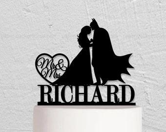 Wedding Cake Topper,Batman Cake Topper,Custom Cake Topper,Mr And Mrs Cake Topper,Hero Cake Topper,Custom Cake  Topper