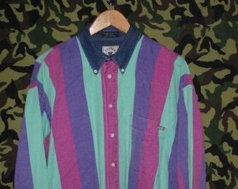 Multicoloured Striped Button up