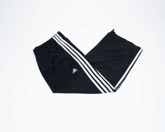 Vintage Cropped Frayed Adidas Trackpants