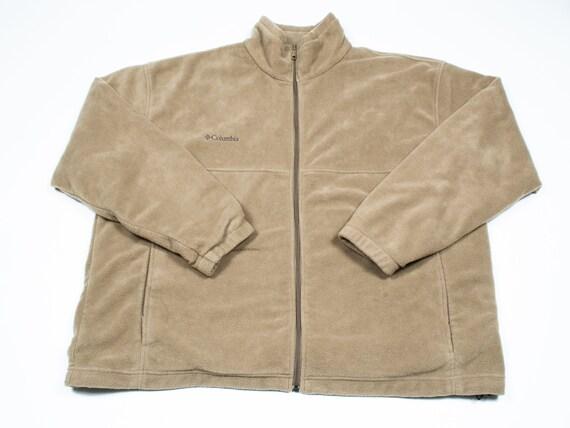 Vintage 1990s Columbia Fleece Zip up - Beige Sweat
